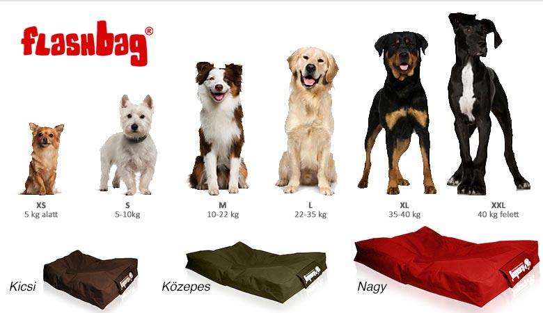 Flashbag kutyafekhely méretek